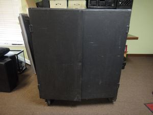 Black Rolling Cage with Shelves for Sale in San Bernardino, CA