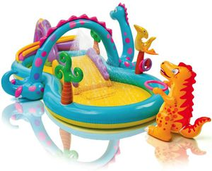 BRAND NEW kids inflatable swimming Dino water play center summer backyard play for Sale in Rosemead, CA