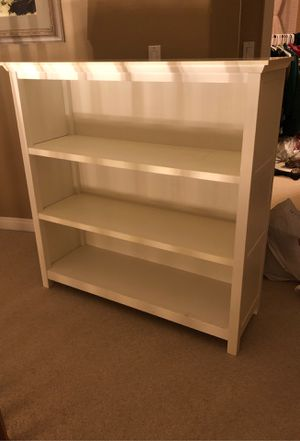 Two White pottery barn bookshelves for Sale in San Diego, CA