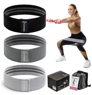Ltrototea Resistance Bands for Legs and Butt,Workout Exercise Fitness Booty Bands for Women Men,Anti Slip Sports Glute Hip Bands Elastic(Set 3) for Sale in Santa Ana, CA