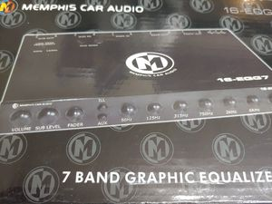 Car audio system : Memphis equalizer preamp & Scosche 6 feet rca jack ( brand new price is lowest shipping available ) for Sale in Bell Gardens, CA