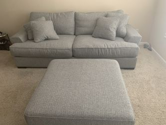 Comfy Grey Couch with Ottoman $1000/OBO for Sale in Columbus,  OH