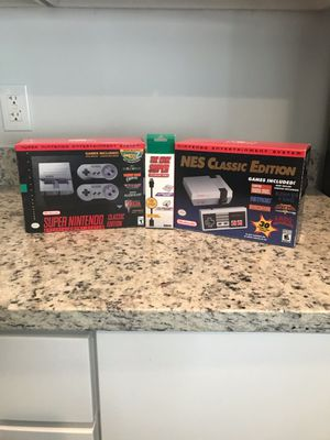 Super Nintendo and Nintendo classic Mini for Sale in Irving, TX