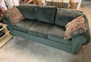 Green Couch with two cushions for Sale in Silver Spring, MD