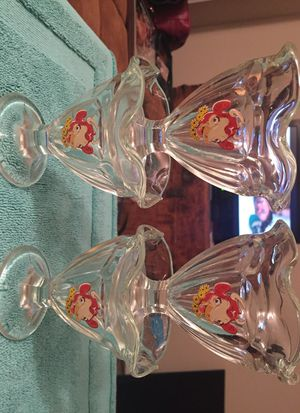 Elsie the dairy cow ice cream glass cups for Sale in Tacoma, WA