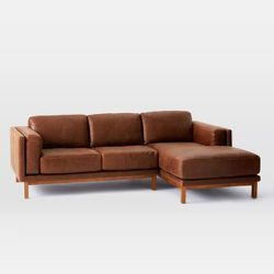 WEST ELM Dekalb Leather Sectional for Sale in Seattle,  WA