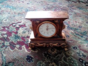 Vintage and Antique Gorgeous Mantel Clock with Lion Heads for Sale in Downers Grove, IL