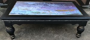Custom painted Artisan coffee table for Sale in Houston, TX
