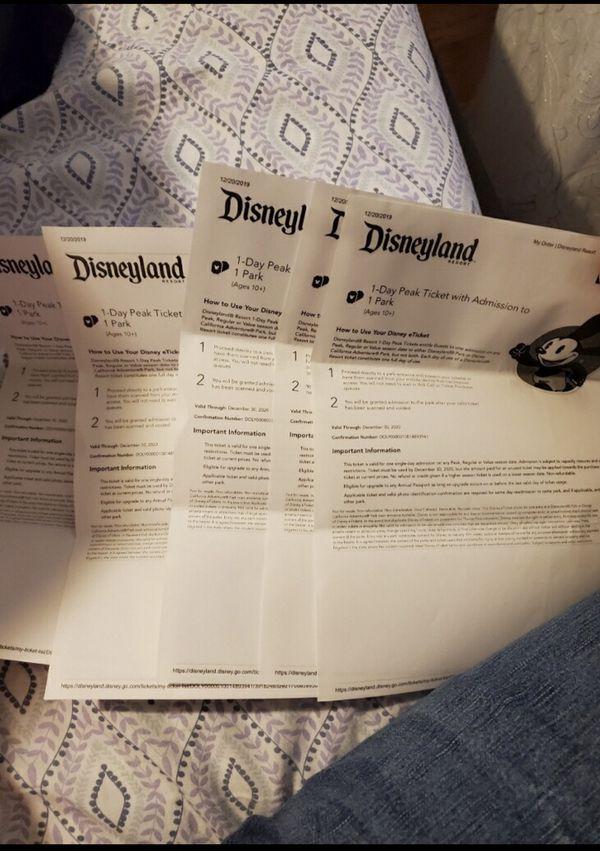 5 Disney tickets