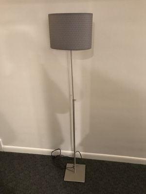 Ikea floor lamp - tall, grey shade for Sale in Boston, MA