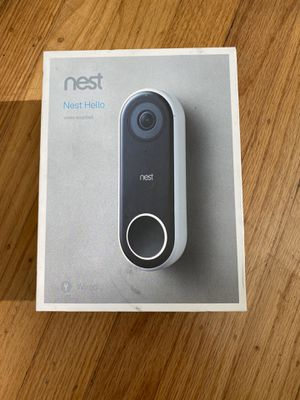 Nest Hello Video Doorbell Surveillance Camera, Brand New, Never Been Used, Retail Price $219.99+tax for Sale in Castro Valley, CA