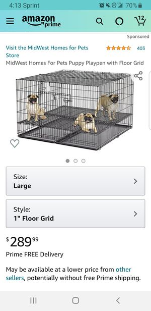 MidWest Homes For Pets Puppy Playpen with Floor Grid for Sale in Clovis, CA