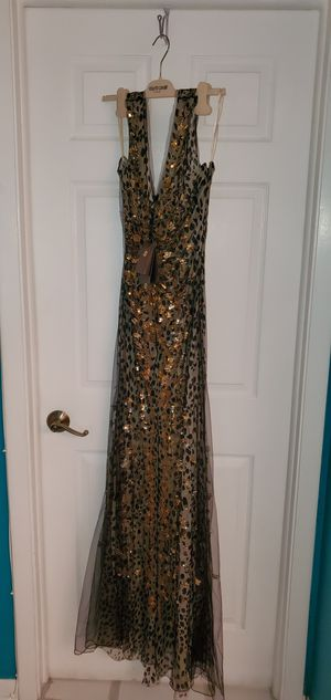 Roberto Cavalli women's woven dress size 44 EU Evening gown for New Year celebration was $6,000 being offered for $3,999 Made in Italy 🇮🇹 for Sale in Fort Lauderdale, FL