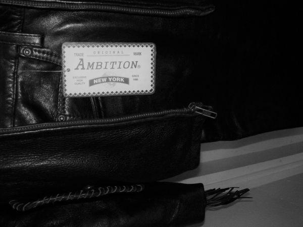 Black Leather Women's Fringe Biker Jacket & Brandnew leather pants