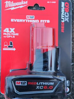 Milwaukee M12 6.0 Battery for Sale in Riverside,  CA