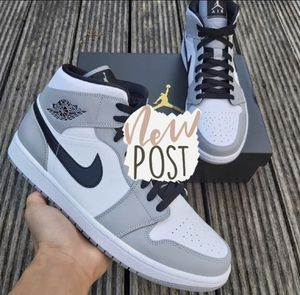 """Jordan 1 mid """"Smoke grey"""" size (10.5/11) available. $175 or b/o on each. DS(New) factory laced. Must be picked up locally in Providence. for Sale in Providence, RI"""