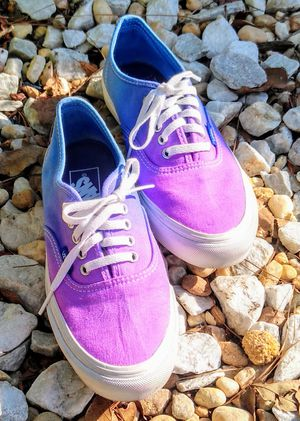 Vans women size 7 blue and purple ombre for Sale in Moncks Corner, SC