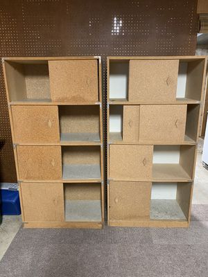 FREE Two shelves w/sliding doors all work for Sale in Auburn, WA