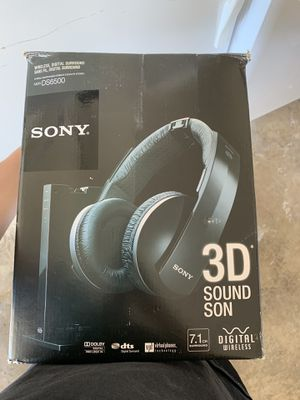 SONY 3D SOUND SON DIDGITAL WIRELESS HEADPHONES for Sale in Portland, OR
