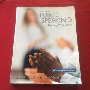 FREE Book Public Speaking Finding Your Voice for Sale in San Diego, CA