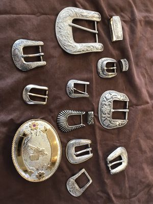 Lot of 11 belt buckles for Sale in Young, AZ