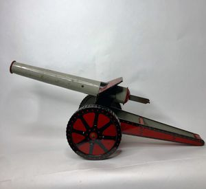 Antique 1930's Tin Toy Cannon - Woodhaven Metal Stamping Co Collectible WORKS - Excellent Condition for Sale in Riviera Beach, FL