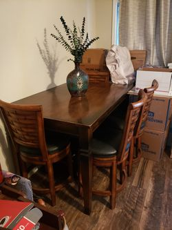 Commercial Grade Dining Table & 4 Swival Stools for Sale in Duluth,  GA