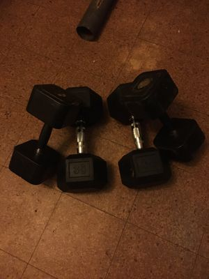 Two 35 and two 25 dumbbells for Sale in Rocky Mount, NC