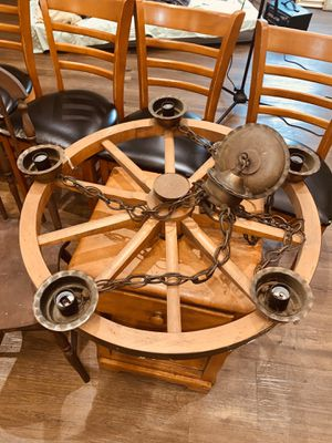 Antique Wooden Wagon Wheel Chandeliers for Sale in Ewing Township, NJ