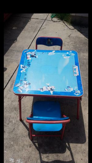 Mickey mouse club house kids table with 2 chairs for Sale in San Antonio, TX