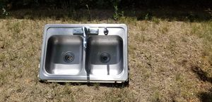 Stainless steel sink and Facuet for Sale in Littleton, CO