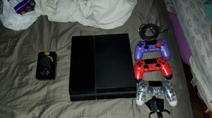 Ps4 w/3 controllers and astro mix amp for Sale in South Houston, TX