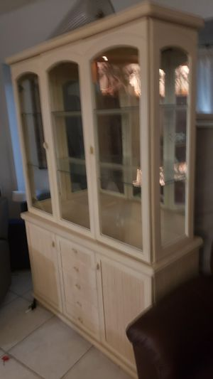 China Cabinet, Table, and Chair Bundle for Sale in Cape Coral, FL