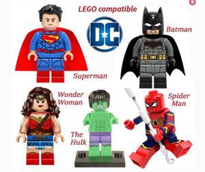 Minifigures DC Marvel Super Hero works w Lego 5 ct Mini Figures for Sale in Upland, CA