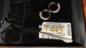 14ct white gold and diamonds hoop earrings for Sale in Redondo Beach, CA