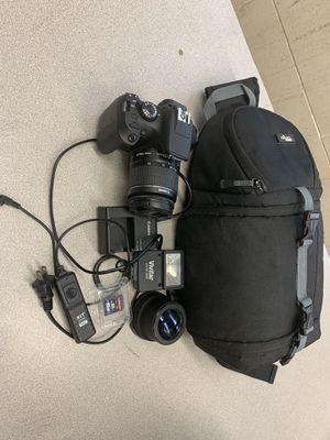 Canon Rebel T6 with tons of extras! for Sale in Solana Beach, CA