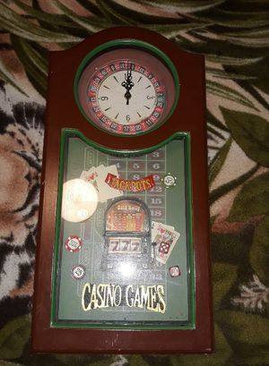 Jackpot shadow box wall clock for Sale in Fresno, CA