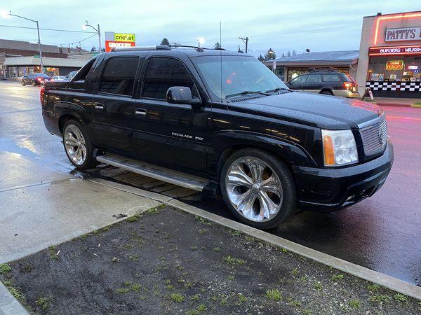 2005 Cadillac Escalade ext 24 inch wheels Mack daddy trades