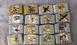 Nintendo 64 games, prices inside for Sale in San Diego, CA