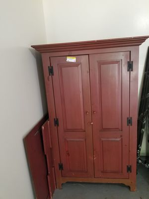 TV armoire 75.00end table and cocktail table 85.00 queen size bed frame 35 00 for Sale in Shreveport, LA
