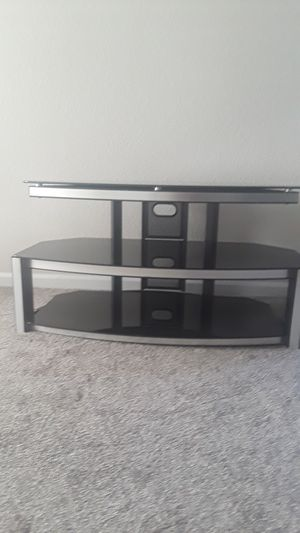 Black Glass TV Stand for Sale in Highlands Ranch, CO