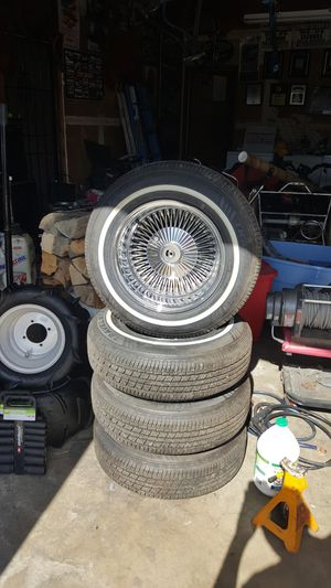 14x7 wire wheels for Sale in Fresno, CA