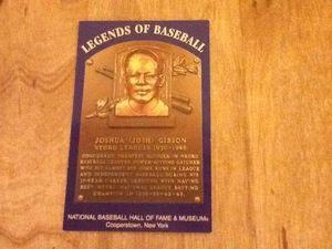 Rare postcard HOF Legends of Baseball Josh Gibson for Sale in Charles Town, WV