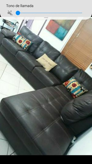 SOFA SECTIONAL BROWN IN SHAPPE L.DELIVERY FREE for Sale in Hollywood, FL