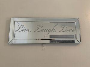 Live laugh love wall mirror for Sale in Centreville, VA