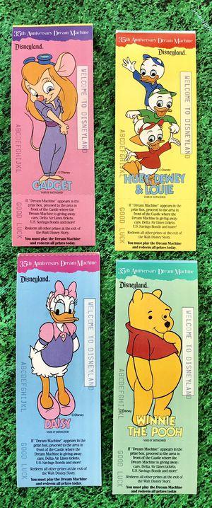 1990 Vintage Disneyland 35th Anniversary Dream Machine Ticket Stubs for Sale in Lake Forest, CA