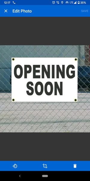 2x3 OPENING SOON Black & White Banner Sign for Sale in Tyler, TX