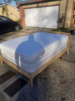 Full size bed with frame, mattress and box spring. for Sale in Stockton, CA