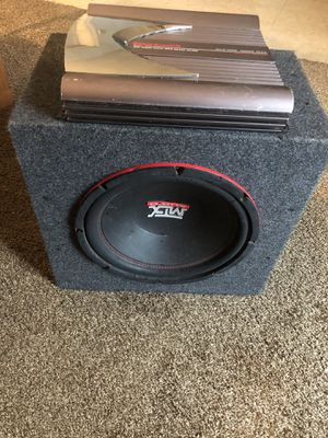 12 inch mtx subwoofer and 520w power acoustic amp for Sale in Suffolk, VA