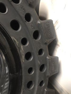 4x solid tire bobcat tire 10-16.5 8 lugs $ 1800 cash for Sale in San Bernardino, CA